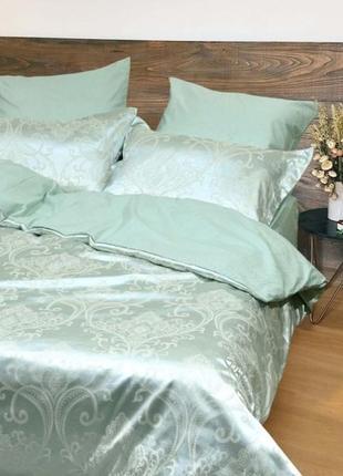 Роскошное постельное белье вилюта сатин tiare жаккард рис.1921 морская волна
