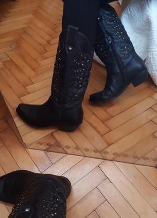 Актуальные сапоги казаки ботинки