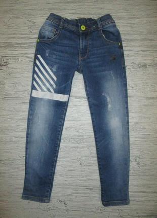 Хорошенькие джинсики фирмы натмег на 5-6 лет