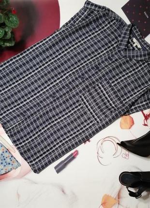Рубашка next, 100% вискоза, размер 16/44, коллекция 2018 года