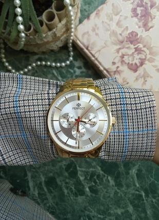 Часы мужские годинник серебро золото японский механизм perfect