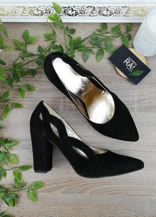 🌿35,38🌿натуральная замша. классные туфли на устойчивом каблуке