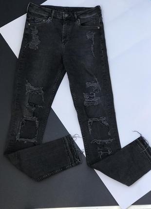 Стильные рваные джинсы h&m