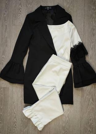 Стильные брюки с рюшами от zara