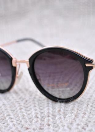 Фирменные солнцезащитные круглые очки marc john polarized mj0752