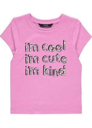 Яскрава футболка для дівчинки на 3-4 р. george