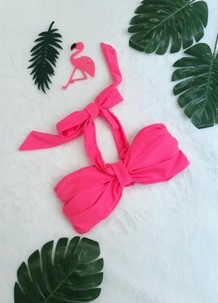 Ярко розовый верх от купальника