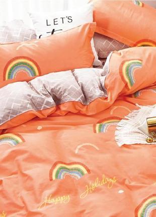 Подростковое полуторное постельное белье viluta сатин 401 радуга