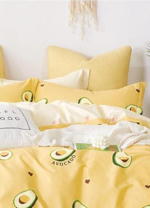 Подростковое полуторное постельное белье viluta сатин 404 авокадо