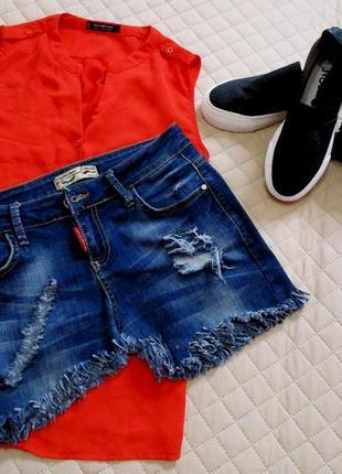 Мега крутая рваная джинсовая юбка-пояс с бахромой.