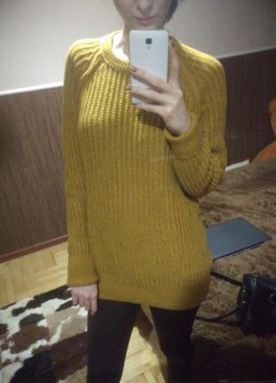 Удлиненная кофта, длинный свитер, туника, свитшот, оверсайз