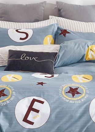 Подростковое полуторное постельное белье viluta сатин 407 звезды