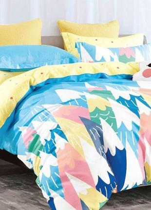 Подростковое полуторное постельное белье viluta сатин 408 карандаши