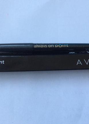 Карандаш для глаз avon со стружилкой в колпачке -black