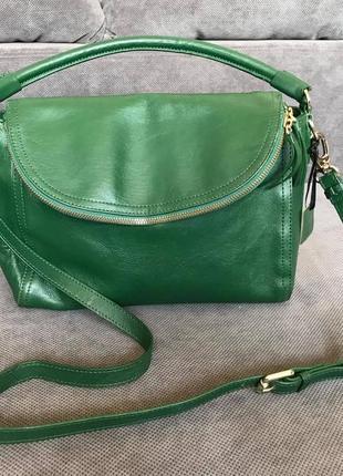 John lewis collection стильная 100% кожаная сумка