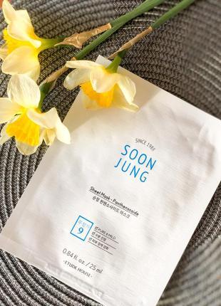 Тканевая маска для раздраженной кожи лица etude house soon jung