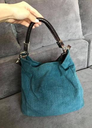 Borse in pelle made in italy итальянская вместительная замшевая сумка