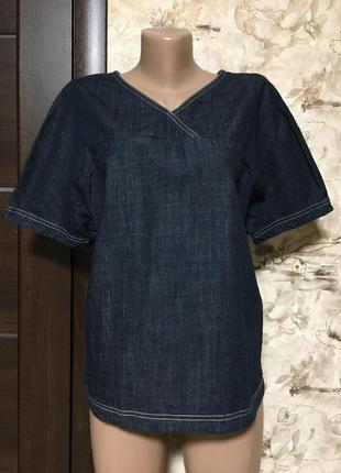 Стильная джинсовая блуза,оверсайз,benetton