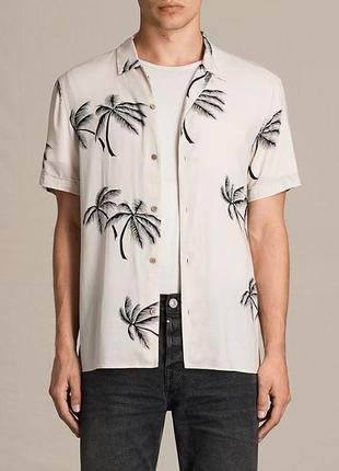 Оригинальная стильная рубашка allsaints offshore hawaiian shirt