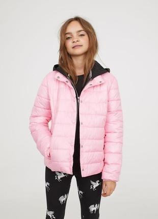 Стильная курточка-зефирка розового цвета  от h&m