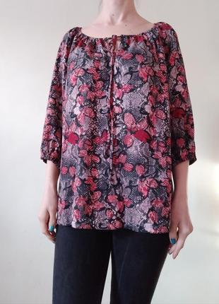 Легкая блуза свободного кроя 16