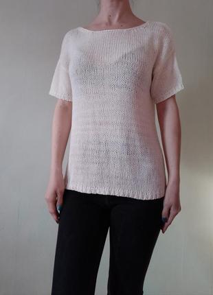 Блуза вязаная футболка свободногт кроя
