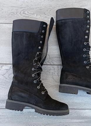 Timberland женские высокие ботинки нубук оригинал деми