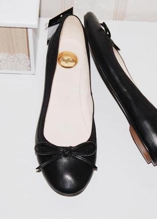 Туфли балетки кожа кожаные 39 р 25 см