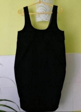 Чёрное бархатное платье cos