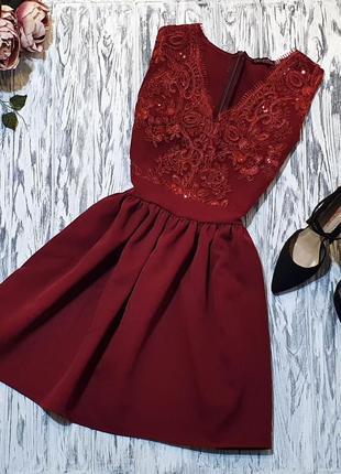 Платье с пышной юбочкой кружево