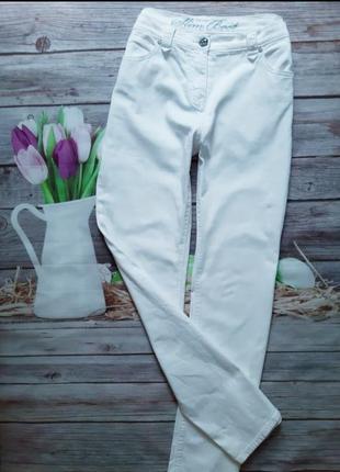 Стильные белоснежные джинсы 46-48