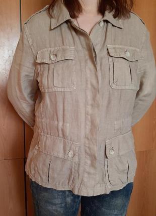 Рубашка льняная лен пиджак
