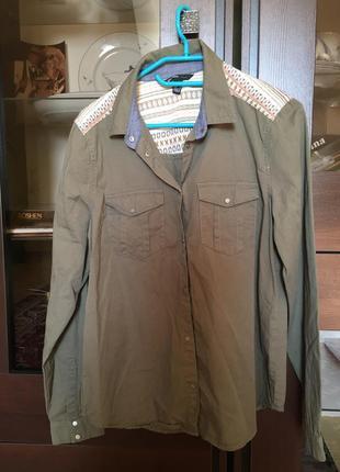 Котоновая рубашка mango