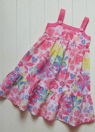 Dopo dopo girls. размер 3-4 года. яркое лёгкое платье для девочки