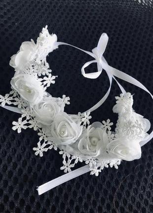 Белый кружевной чокер, кружевной свадебный ошейник