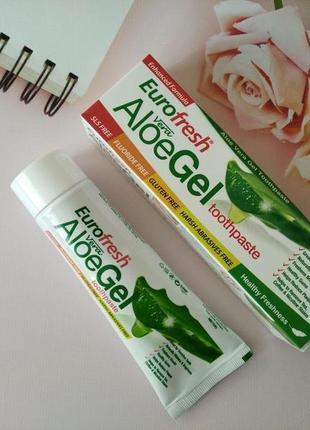 Зубная паста с алое вера farmasi eurofresh aloe gel toothpaste