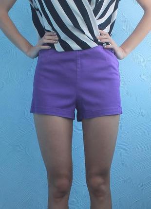 Хлопковые фиолетовые шортики
