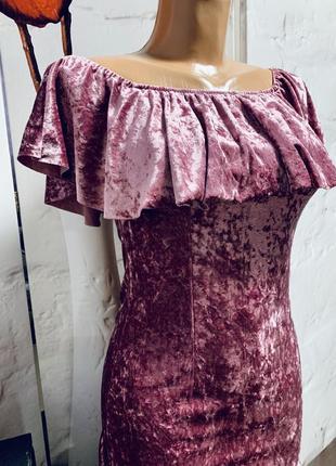 Красивое платье,под бархат,размер s