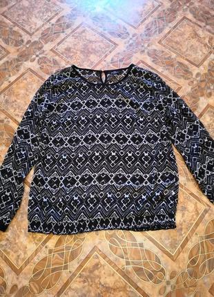 Шифоновая блуза, размер 52/54