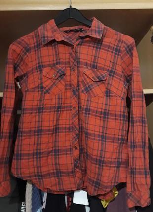 Красная рубашка new look