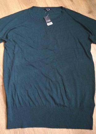 Новая вязаная туника платье esmara зеленого цвета, р. 52-54, укр.р. 60-62, см.замеры