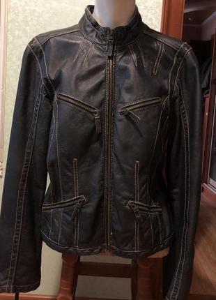 Оригинальная женская куртка немецкой фирмы apart. каталог отто. натуральная кожа.