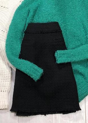 Чёрная твидовая юбка