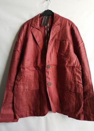 Мужской льняной пиджак блейзер  французского бренда promod  европа франция