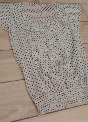 Блуза в модный гороховый принт