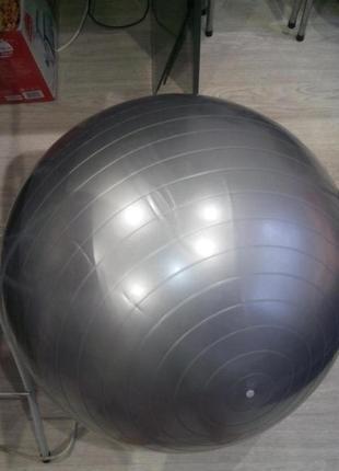 Мяч powerplay для фитнеса 75см серебристый
