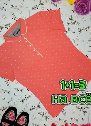 🎁1+1=3 фирменная футболка поло в горошек tommy hilfiger оригинал, размер 44 - 46
