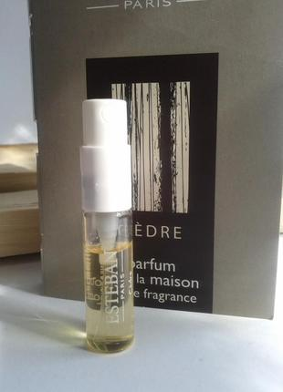 Esteban paris parfums интерьерные духи cedre, пробник, остаток