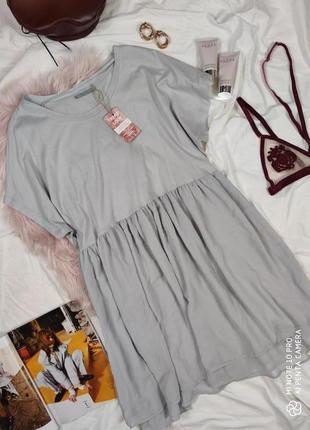 Платье плаття оверсайз свободного кроя качественное серое cos