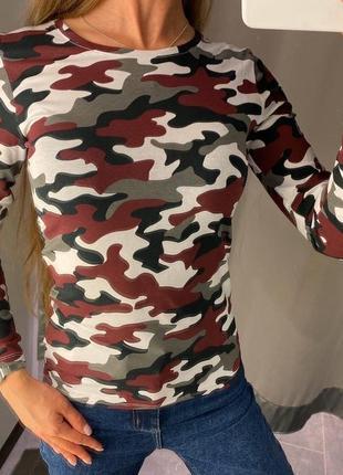 Камуфляжный милитари реглан amisu fb sister